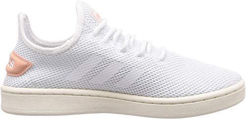 adidas Womens Court Adapt Sneaker, Footwear White/Footwear White/Dust Pink, 41 1/3 EU