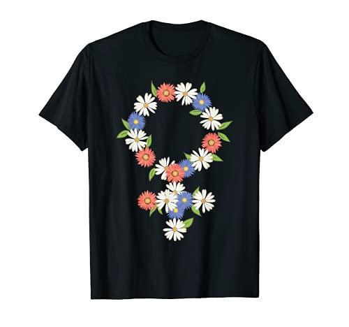 Símbolo de género Flor Patriarcado Feminista Derechos de la Camiseta