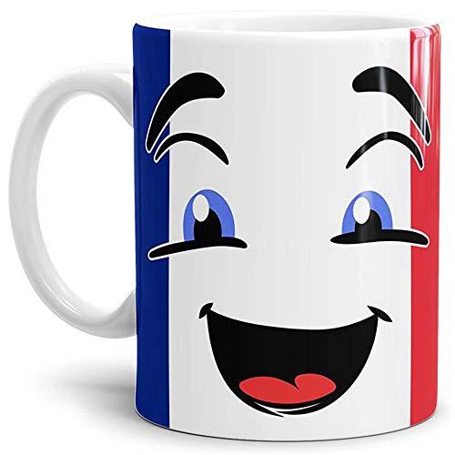 Tassendruck Flaggen-Tasse Frankreich - Kaffeetasse/Mug/Cup - Qualität Made in Germany