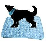 dancepandas Alfombrilla de Refrigeración Animales 2PCS Pet Cooling Mat Colchoneta de Enfriamiento para Perros Mascotas, Manta Refrescante Perro No Tóxico Mascotas y Gatos en Verano - Azul