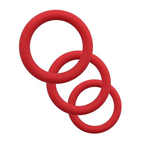 Silicone M-Ạle Ḕn-han`ceM`ënt Exercise 3pcs Flexible Rings Dis^frute de una vida de ca^lidad