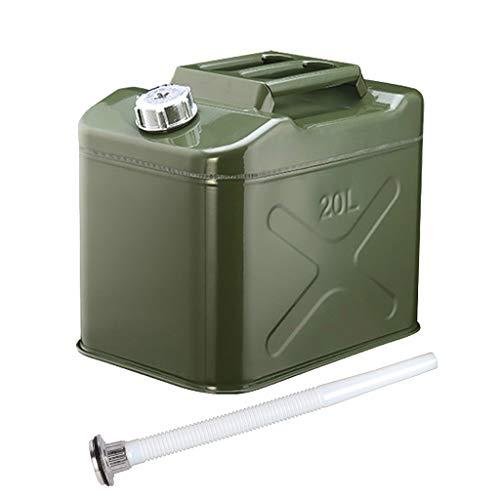 TYX Latas Gasolina Gran Capacidad, Metal Lata Combustible Prueba Fugas, hogar Viajes Camping Gasolina Diesel Fuel Oil Repuesto,20L