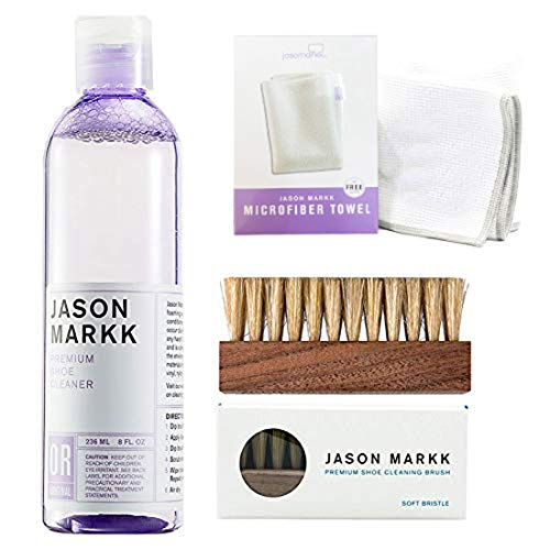 Jason Markk Premium Shoe Cleaner 236ml, Brush and Microfiber Cloth