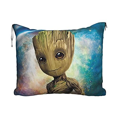 Groot - Manta de viaje para bebé, portátil, 2 en 1, manta de avión, súper suave, acogedora