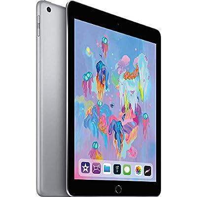 (Refurbished) Apple iPad with WiFi, 128GB, Space Gray (2018 Model)
