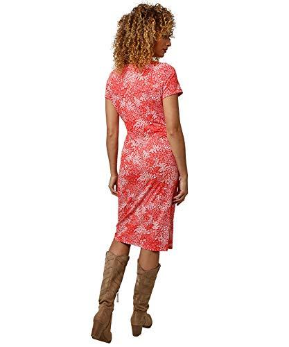Joe Browns Essential Jersey Dress Vestido Informal, A-Rojo/Blanco, 44 para Mujer