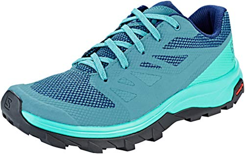 Salomon Women's OUTline W Hiking Shoe, Hydro./Atlantis/Medieval Blue, 11