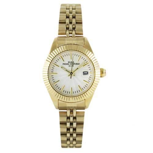Reloj Lady Date M&M Primo Emporio de acero 27 mm Gold 1050/DW
