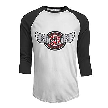 JamesWisniewski REO-Speedwagon-REO Men s Baseball T-Shirt Shoulder 3/4 Sleeve T-Shirt Cotton Jersey XXL Black