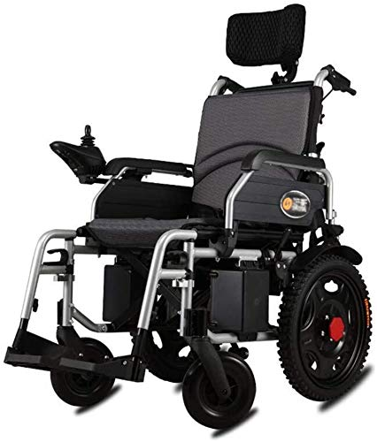Silla de Ruedas eléctrica Plegable, Sillas de ruedas eléctricas, sillas de ruedas for trabajo pesado eléctrico con apoyo for la cabeza, plegable y ligero silla de ruedas eléctrica, Anchura del asiento