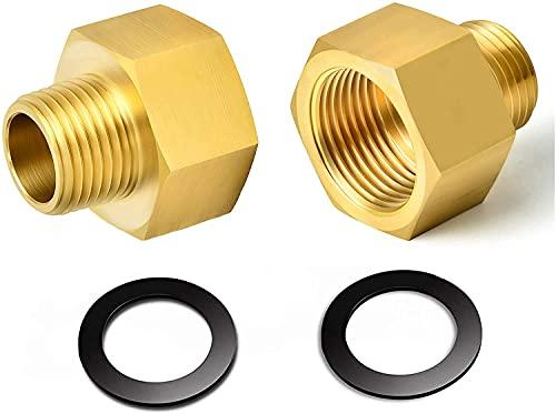 Shengruili 2 Stücke Gas Adapter,Gasschlauch Verbinder,1/2