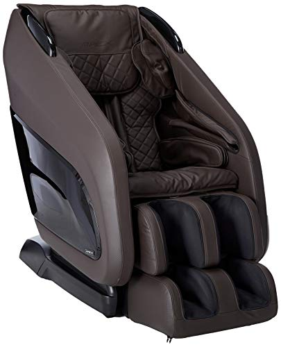 Titan Chair Apex AP- Zero Gravity Massage Chair, Foot Rollers, Space Saving, L-Track Design, and Lower Back Heat Therapy (Dark Brown)