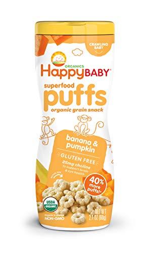 Organics, Superalimentos Puffs, Veggie, fruta y grano - Cultive Inc. (Happy Baby)