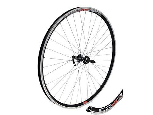 Crosser Laufrad X-3,Nabe JoyTech Zentralverriegelung, Made IN EU, für alle Mountainbikes und Langlauf Fahrrad,Silber Speichen (28