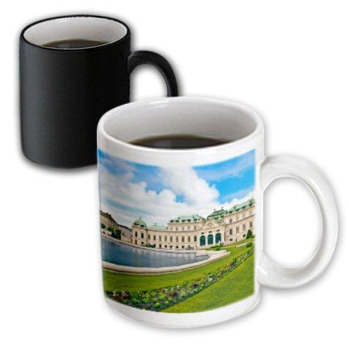 Palacio Palacio Palast Viena Vino Austria Magic Transforming Taza de café con cita motivación Taza de cerámica divertido 313 ml