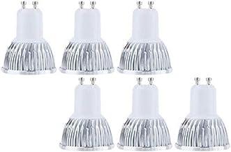 KLED 6Pack COB GU10 LED Spotlight Bulbs 9W Cool White, 6000K, 800lm, 120 Degree Beam Angle, 80W Halogen Bulbs Equivalent, ...