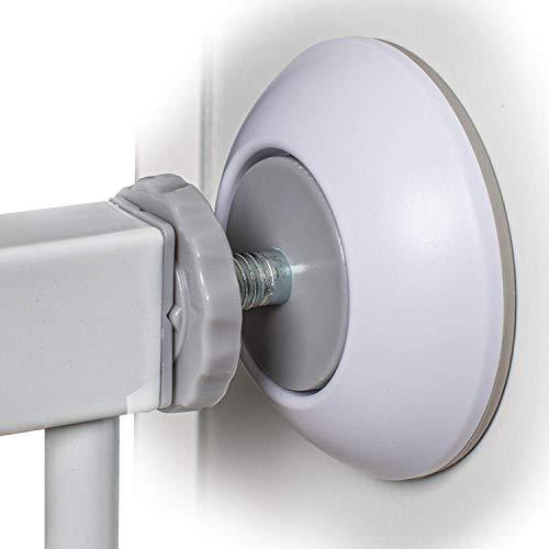 4 STÜCK - FUCHSI Treppengitter Wandschutz | Verbesserte Pad Haftung | Effektiver Schutz vor Beschädigungen Ihrer Wand/Tür durch Baby/Kinder Sicherheits Gitter zum Klemmen ohne Bohren