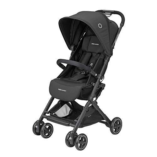 Bébé Confort Lara kinderwagen, inklapbaar, zeer compact, uniseks, voor kinderen van geboorte tot 3,5 jaar, 0-15 kg 7 kg Nero (Essential Black)
