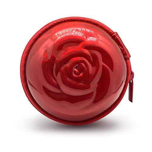 Sileu Case - Estuche para copas menstruales - Ideal para llevar tu tampón o copa menstrual de forma elegante y discreta en tu bolso o para viajes - Pequeño, 8 cm - Rojo Holográfico