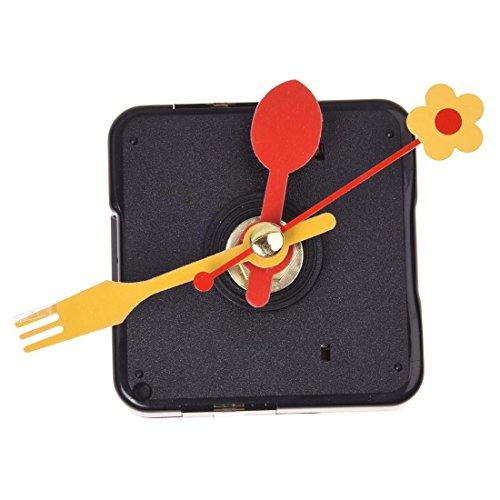 Dcolor Quarz Uhrwerk Clock Quarzuhrwerk +3 Zeiger f. Uhr DIY Reparatur Gabel&Loeffel