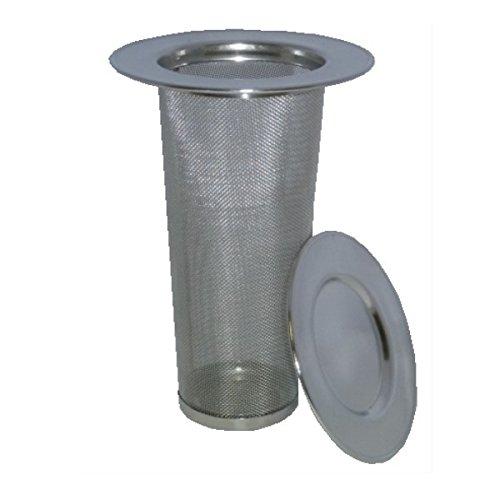 AMA-Feinkost Dauerteefilter mit Deckel für Thermoskanne aus Edelstahl Sieb Durchmesser 4,5 cm