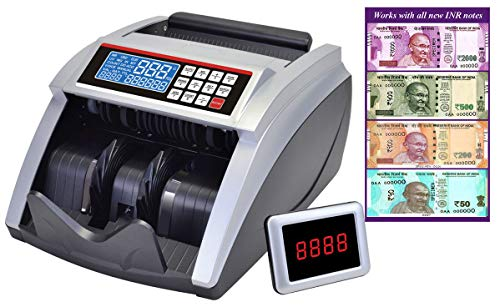 BME Fully Automatic Note Counting Machine with Fake Note Detection, UV, Mg, MT and IR Sensors for USD Rs Euros