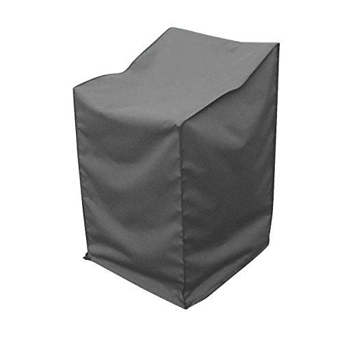 greemotion Abdeckhaube für Stapelstühle - Schutzhülle in Grau - Gartenmöbel-Abdeckung - Wetterschutz-Hülle mit Zugband - Abdeckung für Gartenstuhl - Wetterschutzhaube für Outdoor-Möbel