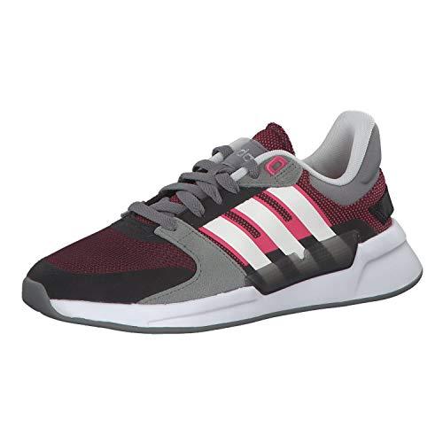 Adidas RUN90S, Zapatillas de Running Mujer, Multicolor (Gritre/Blanub/Rosrea 000), 38 EU