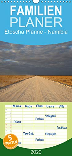 Etoscha Pfanne - Namibia - Familienplaner hoch (Wandkalender 2020 , 21 cm x 45 cm, hoch): Fasziniernde Natur im Süden Afrikas (Monatskalender, 14 Seiten ) (CALVENDO Orte)