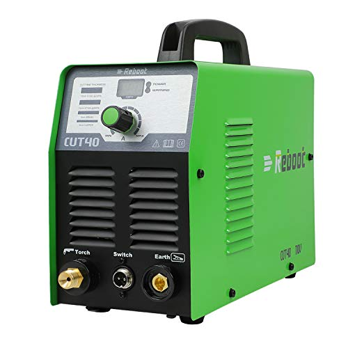 Reboot Plasma Cutter 40 Amps Portable 110V IGBT CUT40 Air Plasma Cutting Machine 2/5in Clean Cut High Frequency Inverter Duty Cycle for Stainless Mild Steel Copper Iron Chrome