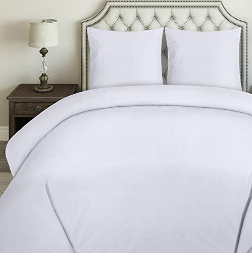 Utopia Bedding Bettwäsche-Set - Mikrofaser Bettbezug 200x200 cm und 2 Kopfkissenbezüge 80x80 cm - Weiß Bettbezüge Set mit Reißverschluss