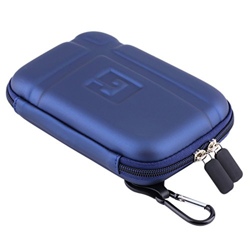 5 Inch Hard Carrying Travel GPS Case Bag Pouch Protective Shell for 5 5 Inch Garmin Nuvi 55LM 54LM/54 52LM/52 2597LMT 2577LT 2557LMT 3597LMT Tomtom Magellan RoadMate Devices Blue