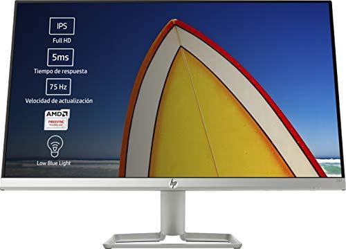 """HP 24f - Monitor de 24"""" (FHD, 1920 x 1080 pixeles, Tiempo de Respuesta de 5 ms, 1 x HDMI, 1 x VGA, 16:9), Negro y Blanco"""