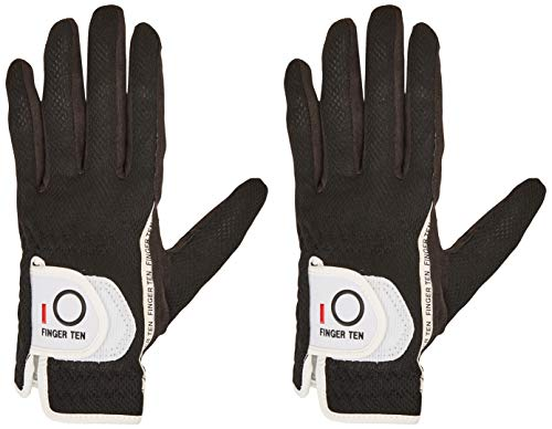 FINGER TEN Men's Golf Glove Rain Grip Pair
