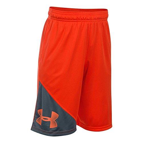 Under Armour Boys' Tech Shorts, Black /Black, Youth X-Large