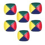 Rmeet Bolas de Malabarismo,6 Pack Mini Bolas para Malabares Bolas de Malabares Suaves de la PU para Principiantes Niños Adultos Multicolor