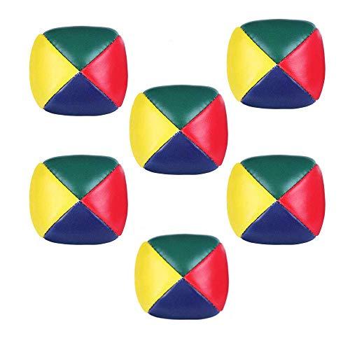 Bolas de Malabarismo,6 Pack Mini Bolas para Malabares Bolas de Malabares Suaves de la PU para Principiantes Niños Adultos Multicolor