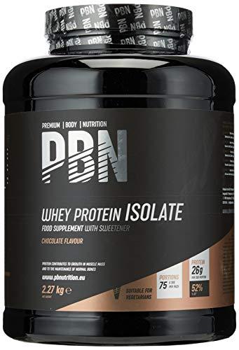 PBN Premium Body Nutrition - Aislado de proteína de suero de leche en polvo (Whey-ISOLATE), 2.27 kg (Paquete de 1), sabor Chocolate, 75 porciones