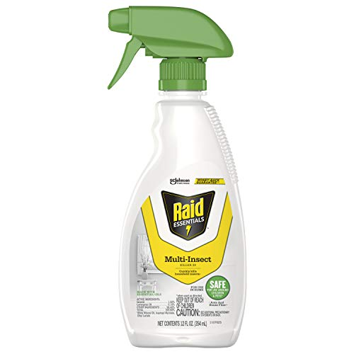 Raid Essentials MultiInsect Killer Spray Bottle Child Pet Safe for Indoor Use, 12 Ounce