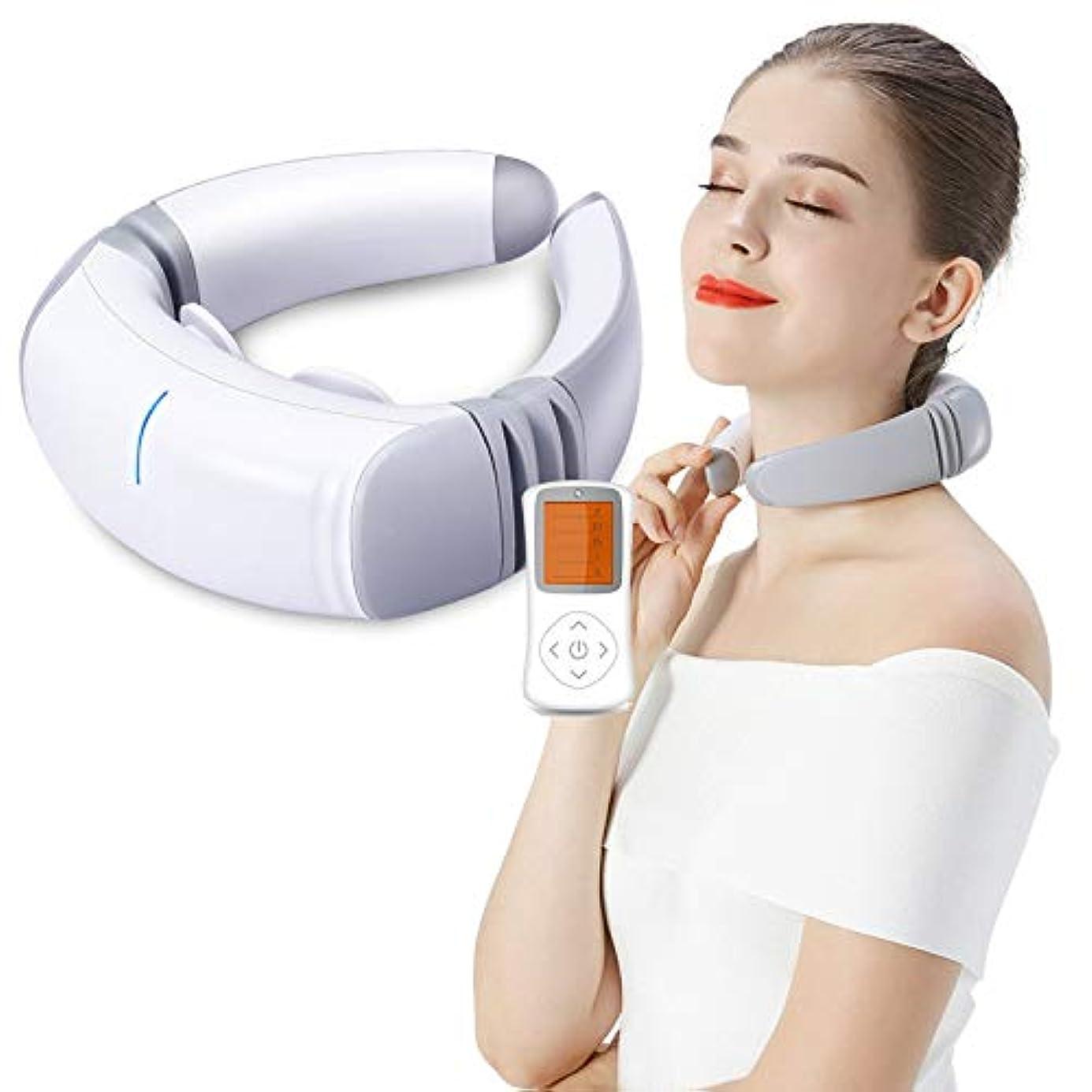 悪夢不信服を着る多機能ネックマッサージャーディープティッシュワイヤレス3D混練、子宮頸部マッサージャーホーム電子パルス車、オフィス用
