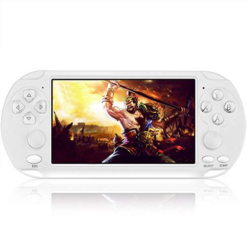 JINQII Console de jogos portátil, tela de 5,1 polegadas, X9-S PSP, console de videogame portátil, 8 G, 10.000 jogos, suporta jogos de 8/16/32/64/128 bits