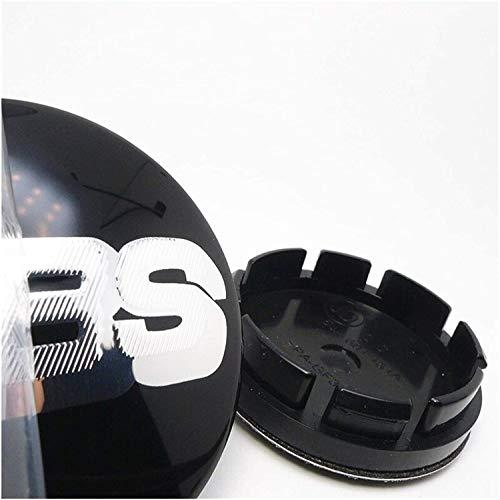 Coche 4 Piezas 56mm,Tapas centrales Aleación Tapacubos con Emblema De Insignia Embellecedor Central De Llanta De Rueda Cubre Accesorios, para BBS 16 inch Golf MK3 Tires