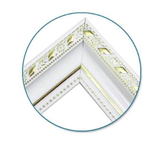 Marco de fotos de madera Camilla de bricolaje pintura al óleo diamante mosaico grueso marco de madera pintura de pared marco de fotos marco interior adhesivo blanco