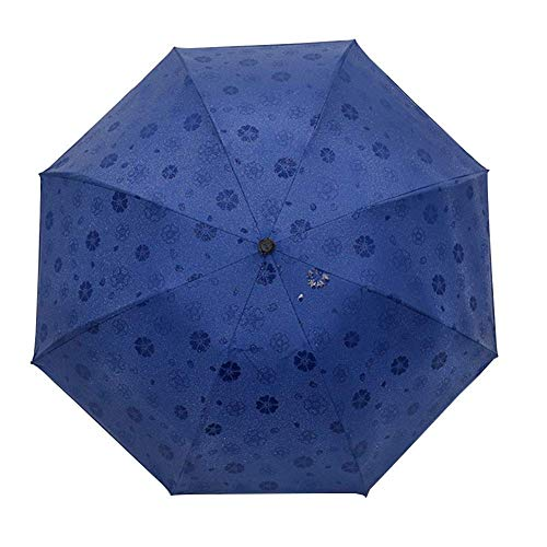 WYZQ Paraguas Plegable Paraguas Autorretrato Encuentro en el Agua Paraguas Bloom Paraguas de Golf Paraguas Plegable Azul, Equipaje