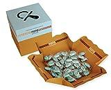 Confetti Celesti incartati singolarmente in Vassoio da g 500 - Confetti Papa Cioccogolosone con cioccolato e mandorla - Senza glutine