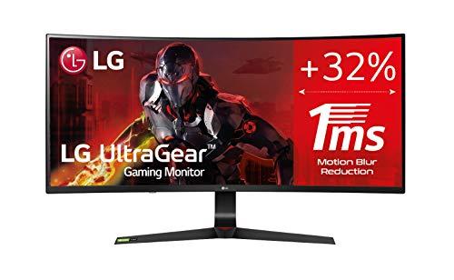 "LG 34GN73A-B - Monitor Gaming de 86,7 cm (34"") WFHD (2560 x 1080, IPS, 21:9, DisplayPort x1, HDMI x2, AUX x1, Ultrawide, Antireflejo), Negro"