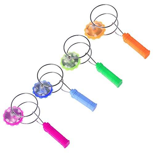 Magnetischer Kreisel mit leichtem Ballspielzeug mit LED-Lichtspielzeug für Jungenmädchen Magnetische Spinnräder 21 cm (Zufällige Farbe 1 Einheit gesendet)