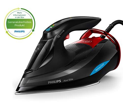 Philips Azur Elite Dampfbügeleisen GC5037/80 (3000 W, 260g Dampfstoß, OptimalTEMP, intelligentes Quick Calc-Release, DynamiQ-Modus) schwarz (Generalüberholt)