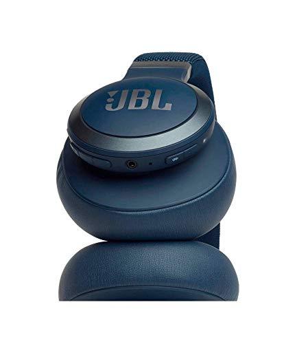 JBL Live 650BTNC Wireless Over-Ear Noise-Cancelling Headphones with Alexa (Blue)