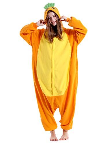 vavalad Adult Carrot One Piece Pajamas Halloween Cosplay Christmas Homewear Sleepwear Jumpsuit Costume Women Men